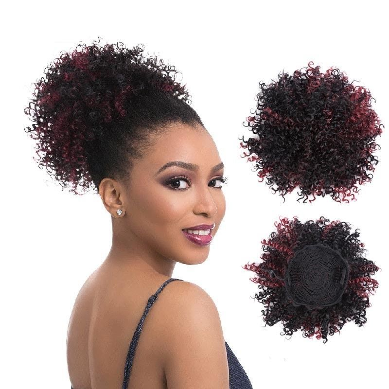 7 99 Gbp Short Curly Synthetic Hair Bun Afro Drawstring Updo Chignon Ponytail Extensions Ebay Synthetic Curly Hair Curly Bun Hairstyles Curly Hair Styles