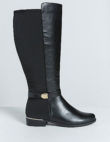 The ankle strap defines these riding boots (along with the