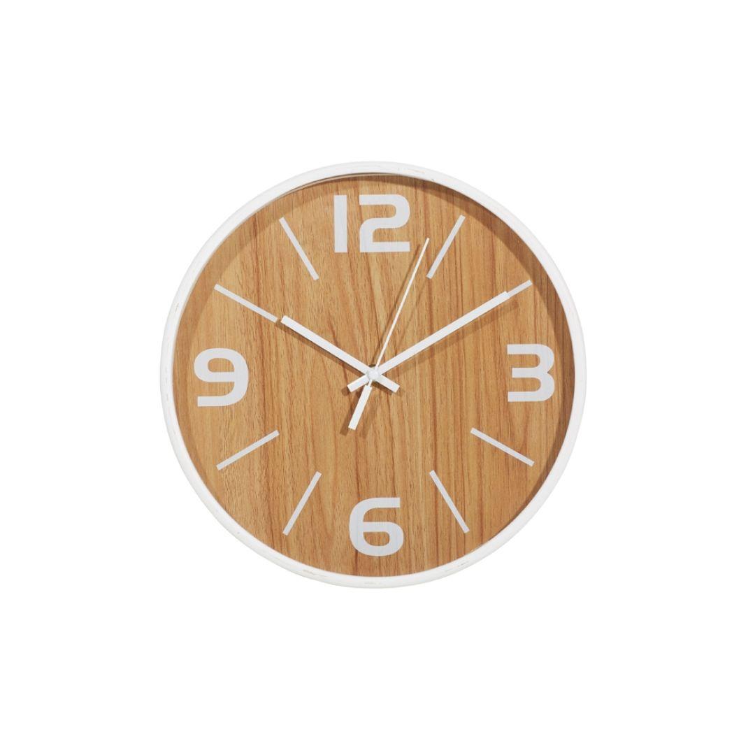 Frankie Wall Clock Natural White Wall Clock Wall Clock Modern Clock