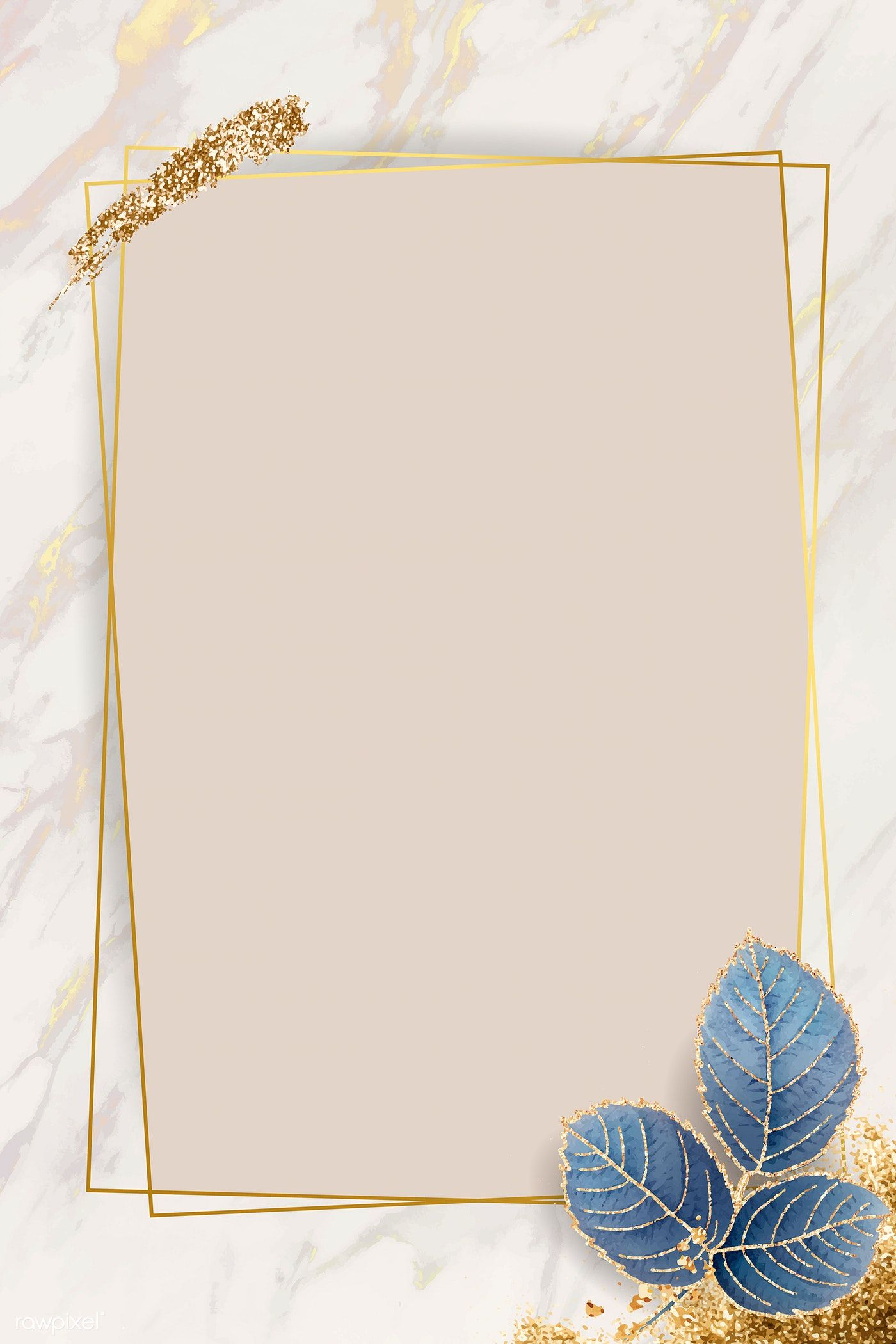 Download premium vector of Blank leafy rectangle frame
