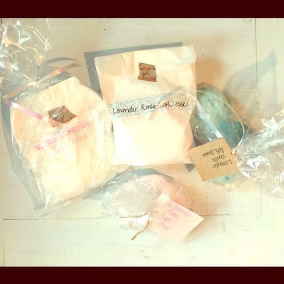 Bath beauty bundle Bath soaks & bath bombs & fleece sock slippers. Accessories