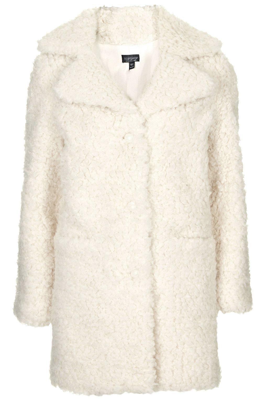 high fashion a few days away quality design Topshop faux teddy coat | White faux fur coat
