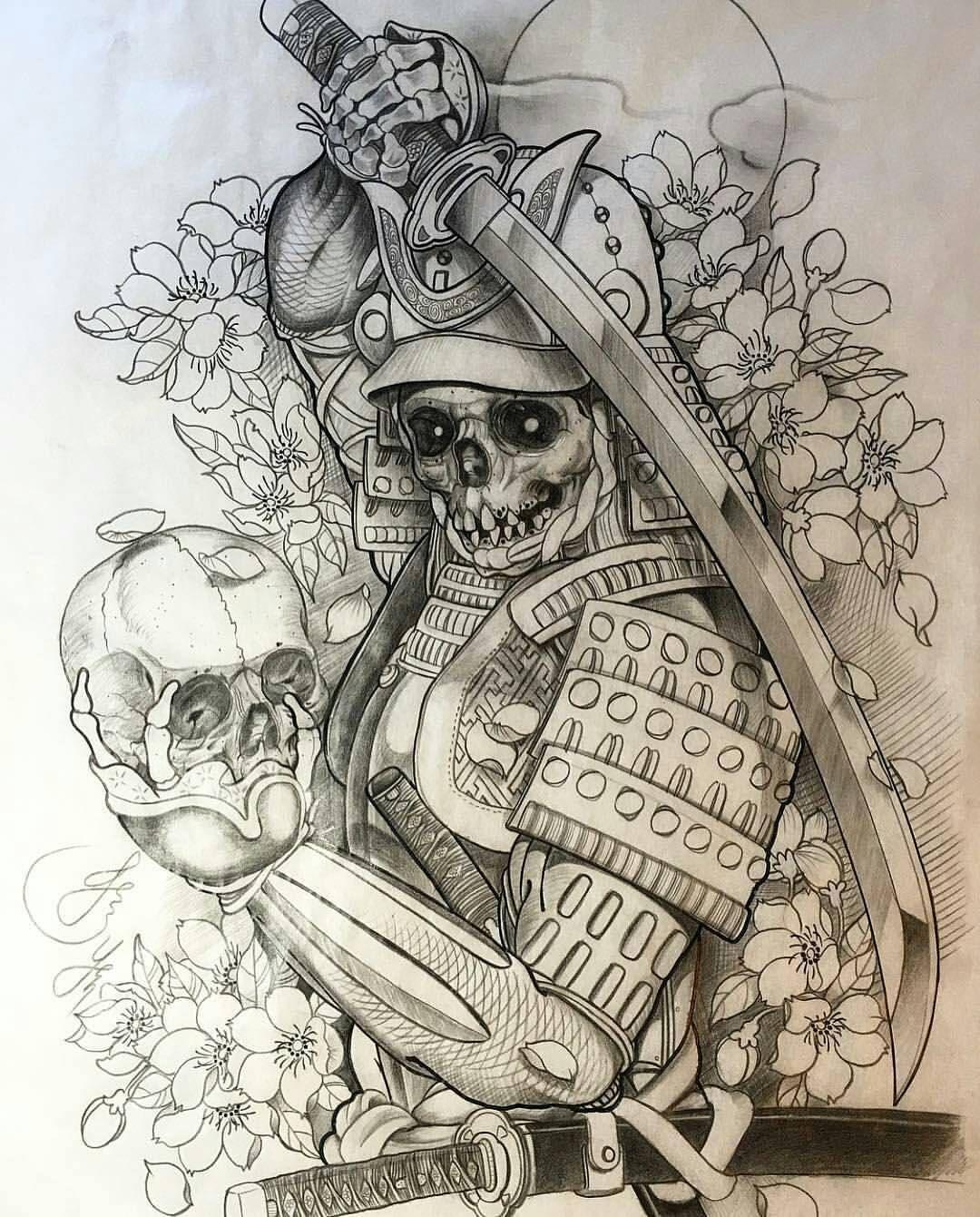 World Of Pencils On Instagram Ghost Samurai Tattoo Sketch By