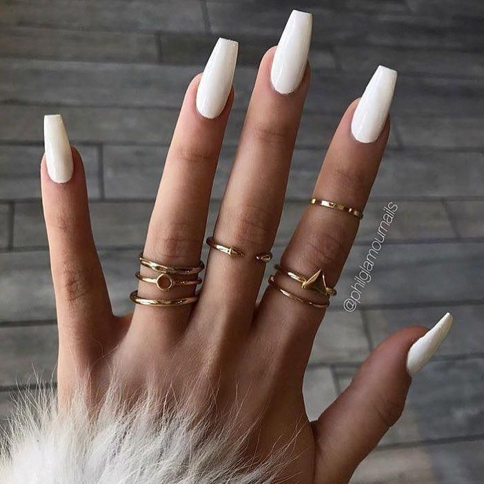 Look at these acrylic nails for summer. #
