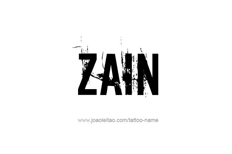 Zain Name Tattoo Designs Name Tattoo Name Tattoos Name Tattoo Designs