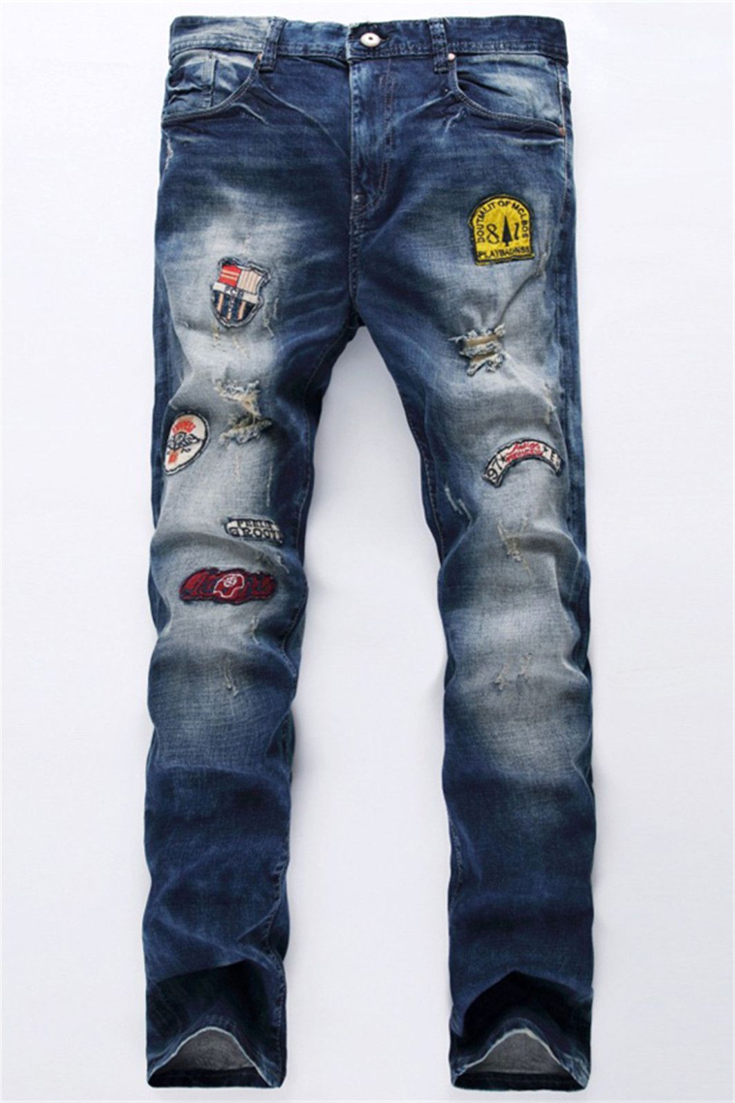 30 42 broken hole patch design jeans crafts n stuff pinterest