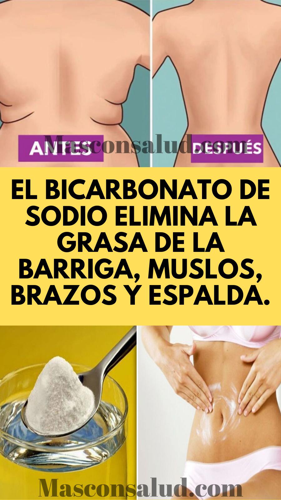 El Bicarbonato De Sodio Elimina La Grasa De La Barriga Muslos Brazos Y Espalda Remedios Para Adelgazar Bebidas Para Adelgazar Dieta Para Perder Grasa