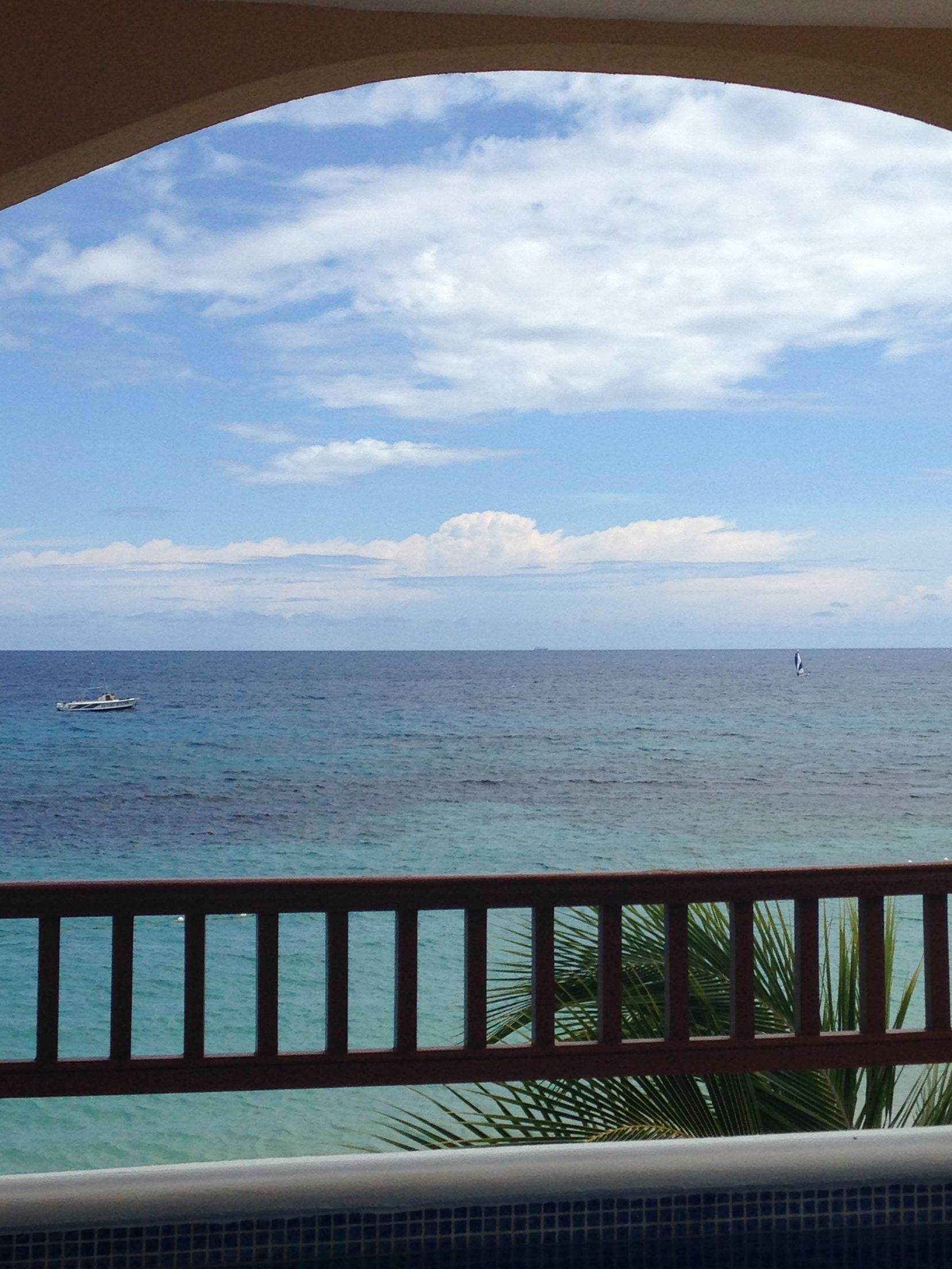 View from the pool in the room. Jewel runaway bay Jamaica