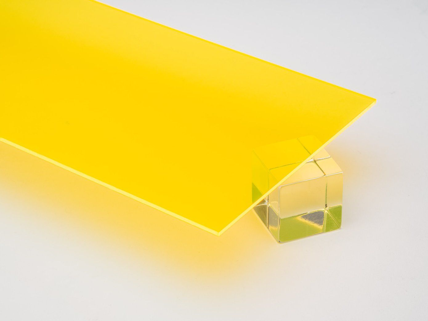 Canal Plastics Center Colored Acrylic Sheets Transparent Surfaces Yellow Fluorescent