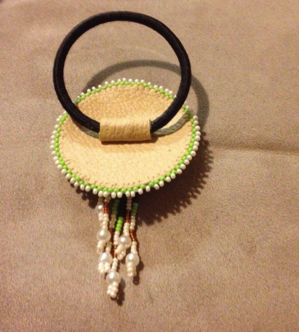 Native American Star Hand Beaded Ponytail Hair Band