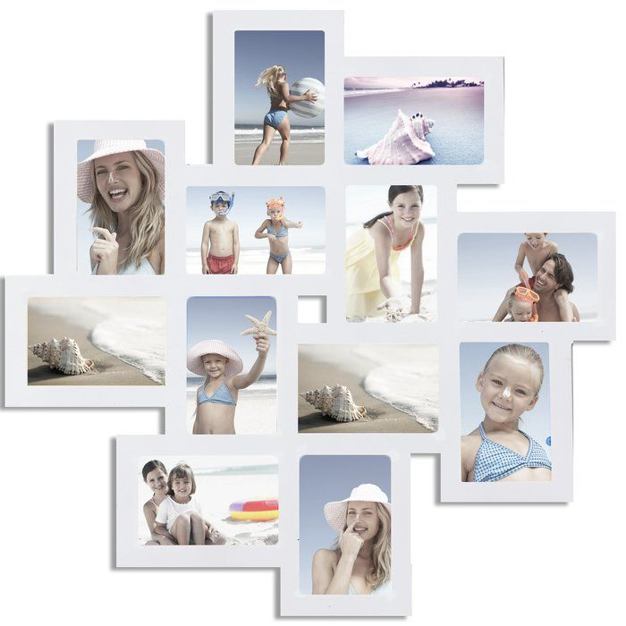 Arthur 12 Opening Wood Photo Collage Wall Hanging Picture Frame ...