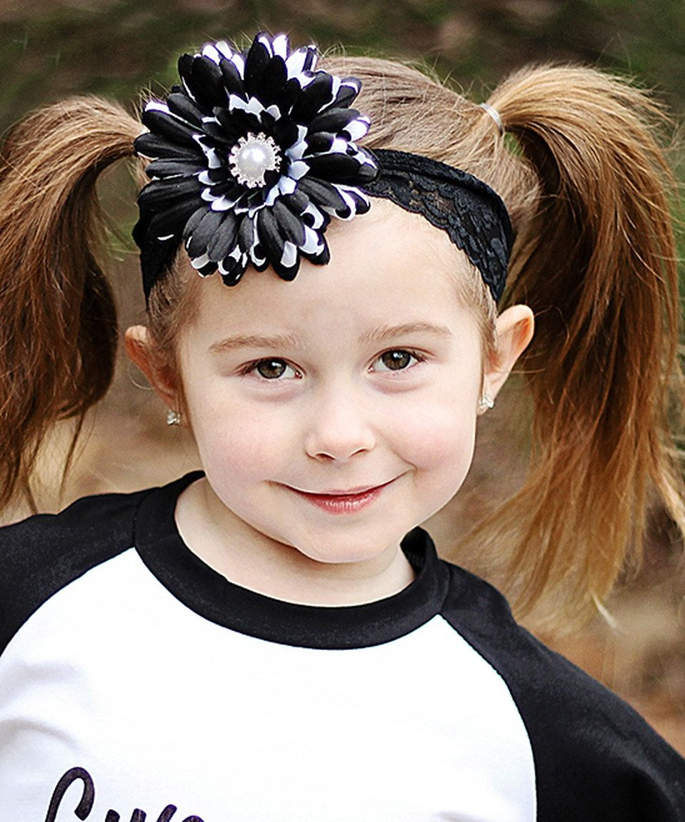 Love this Black & White Lace Flower Headband by Dress Up Dreams Boutique on #zulily! #zulilyfinds