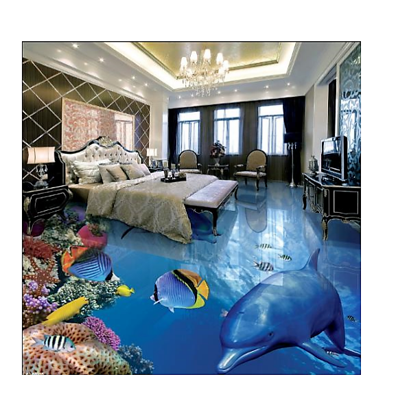 3d Tile Floor Design Inspired In Dolphin And Underwater Sea Animals Tile Stores Floor Design Flooring