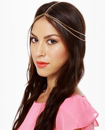 Arabian Nights Gold Chain Headpiece | Chain