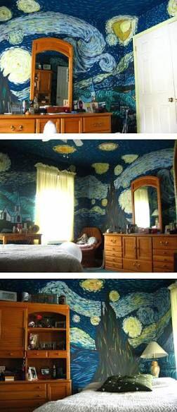 Van Gogh Starry Night Themed Room Starry Night Bedroom Starry