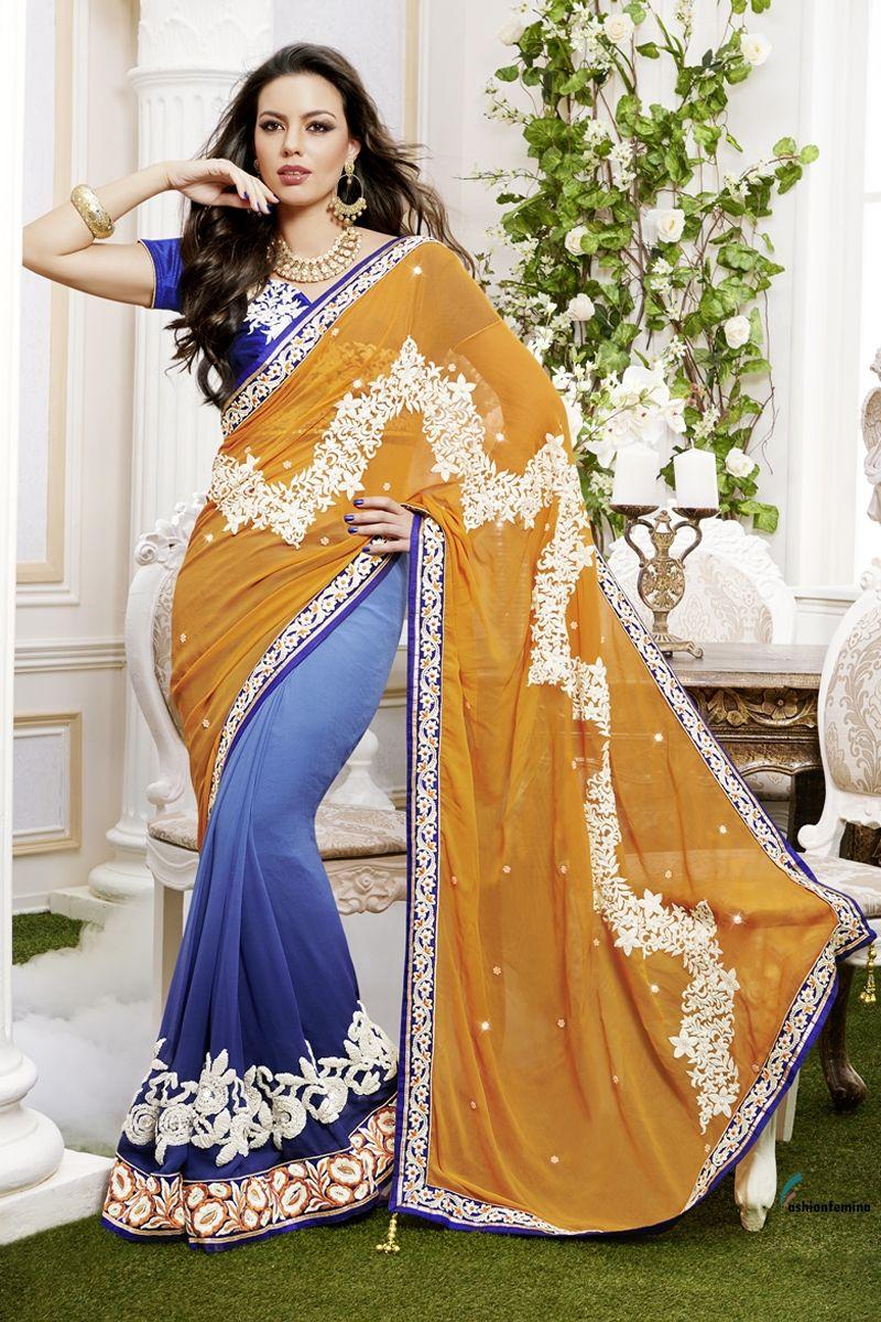 Fashionfemina The Stunning Gorgeous Saree made from Natural Fabric