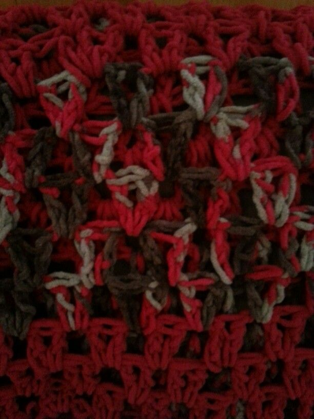 Red n brown afghan