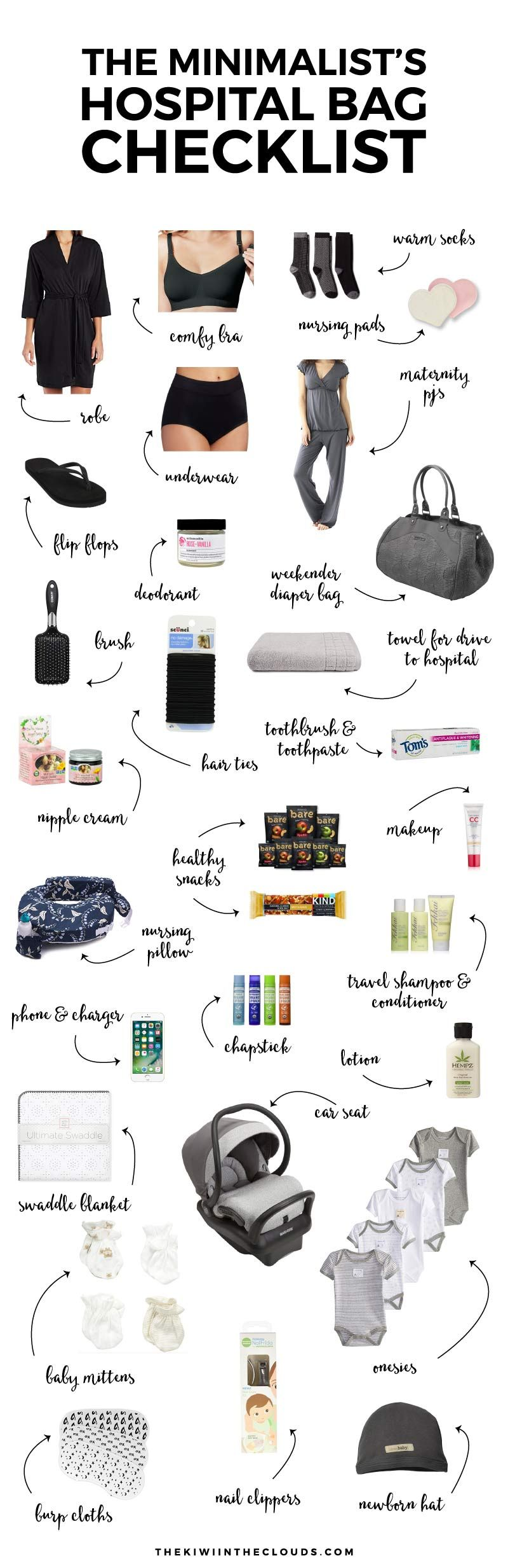 The No Nonsense Guide To The Hospital Bag Checklist Freebie