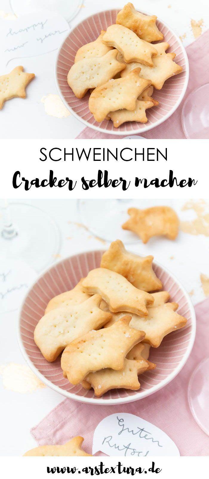 Schweinchen Cracker selber machen – Snack für Silvester | ars textura – DIY-Blog