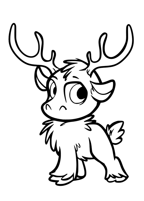 Animal Frozen Coloring Pages