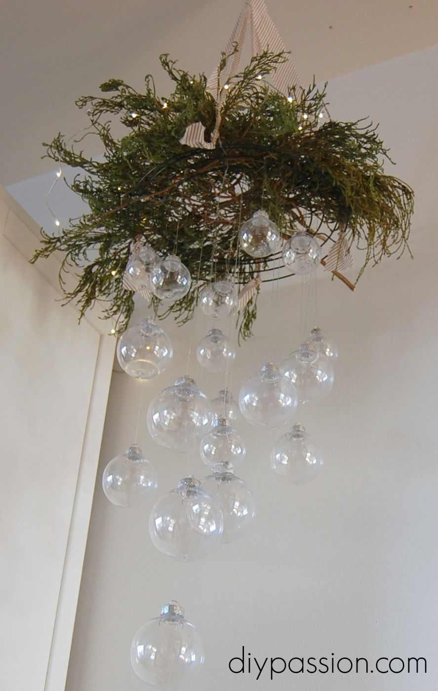 Clear ornament hanging chandelier clear ornaments hanging clear ornament hanging chandelier arubaitofo Image collections