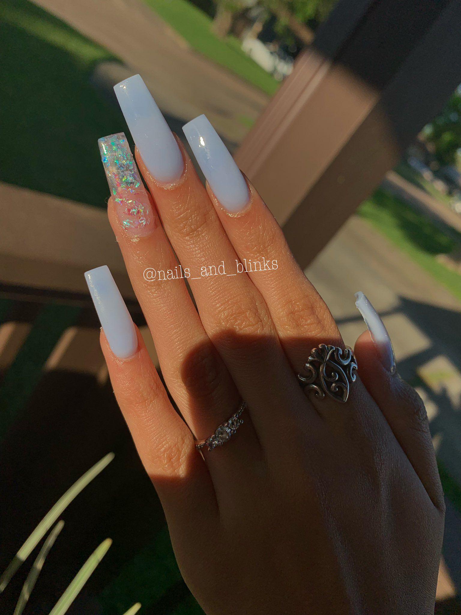 Valeria On Twitter Blue Acrylic Nails Square Acrylic Nails Clear Acrylic Nails