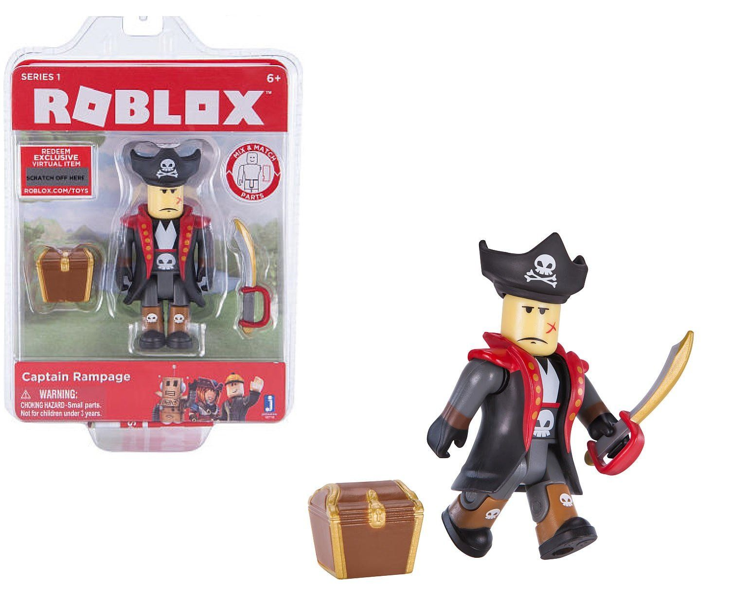 Roblox Series 1 Action Figure - CAPTAIN RAMPAGE - Comes with