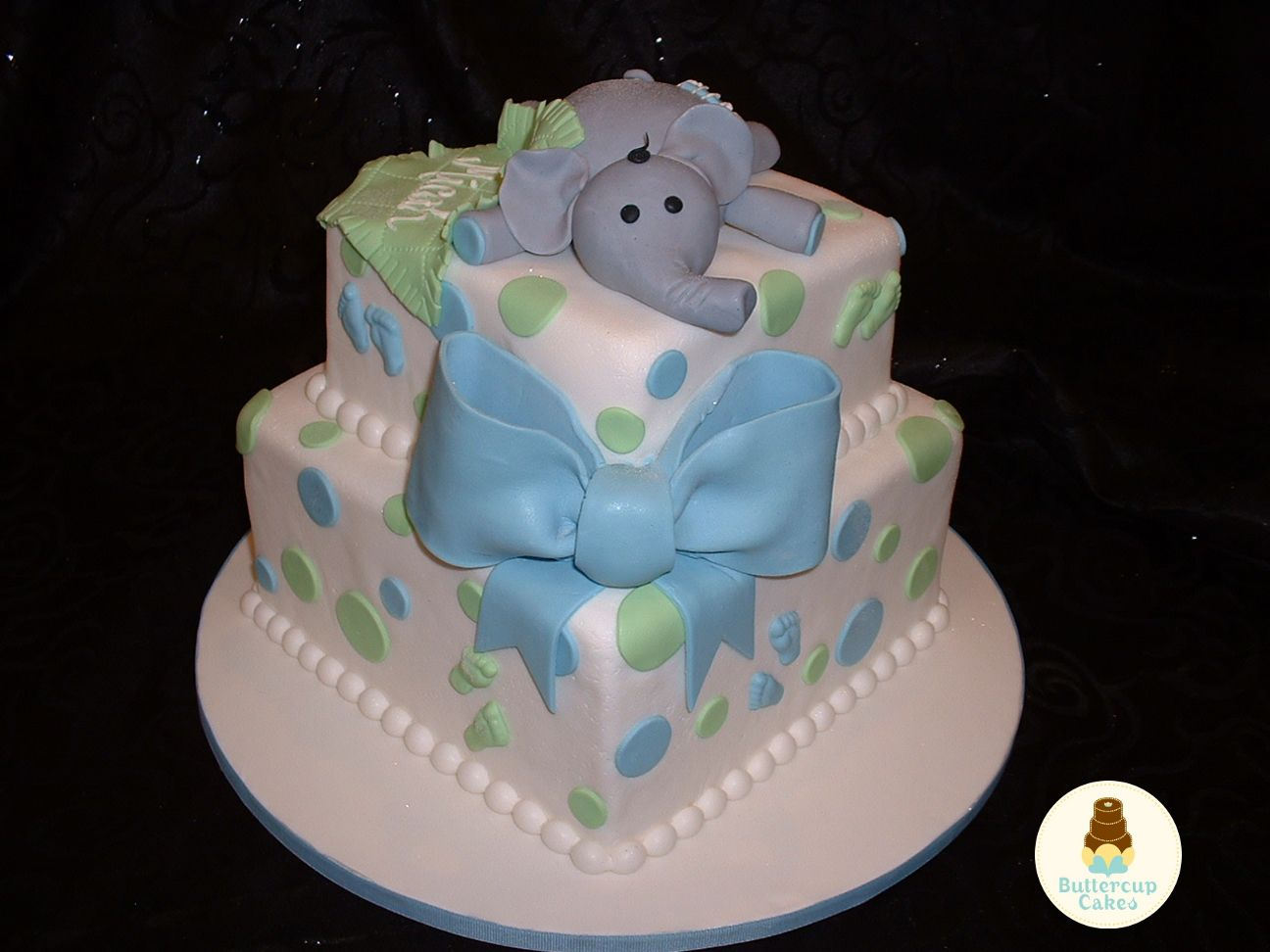Baby Shower Cakes With Elephants ~ Elephant baby shower cake baby cakes elephant baby