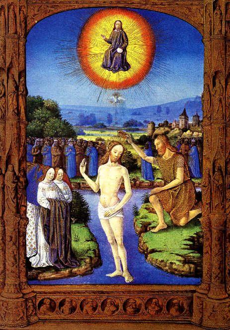 Folio 109v - The Baptism of Christ