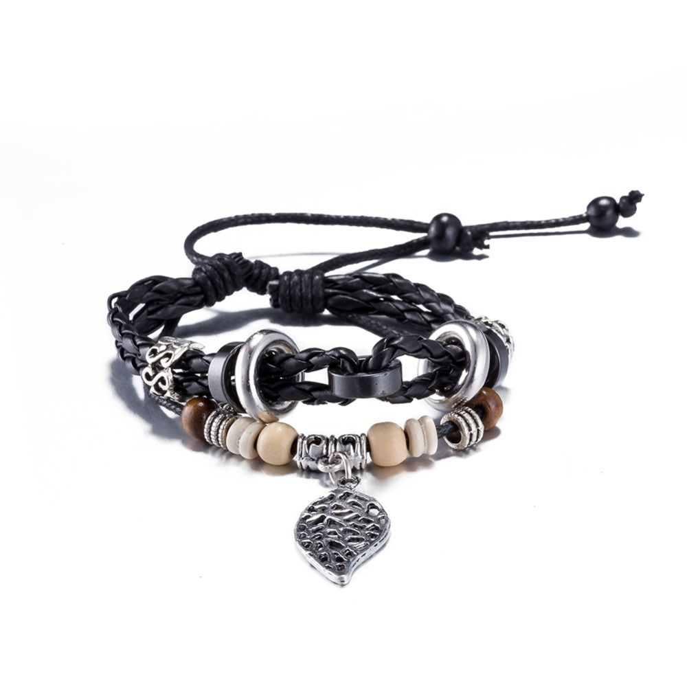 Best friend leather bracelets brazaletes pulseras mujer bijuteria