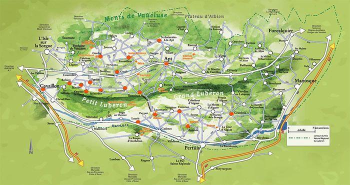 Luberon National Park Map National Parks Explore