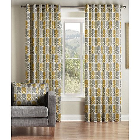 Mustard U0027Uppsalau0027 Lined Eyelet Curtains