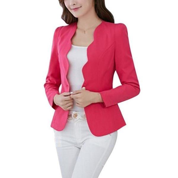19a554602a6e Candy Color Slim Suit Jacket Women Casual Ladies Blazers Female Business  Coat S72-Enso Store-Business-L-Enso Store
