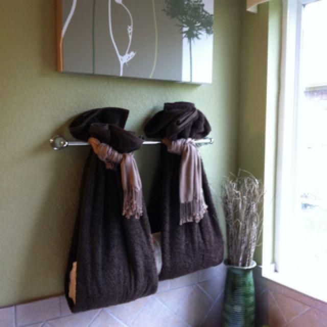 Bathroom towels idea