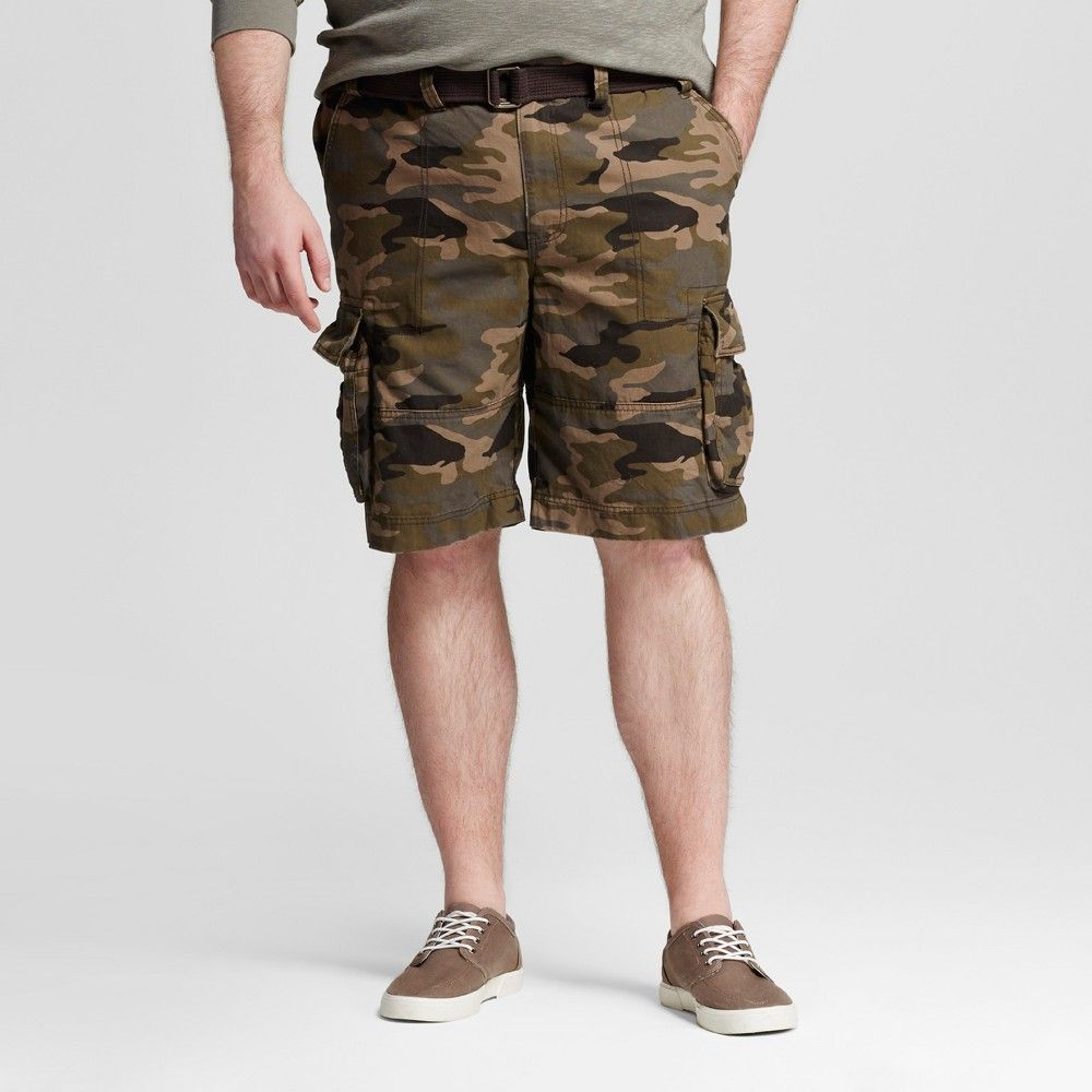 9e4702cbbe Men's Big & Tall Belted Cargo Shorts Camo (Green) 54 - Mossimo Supply Co.