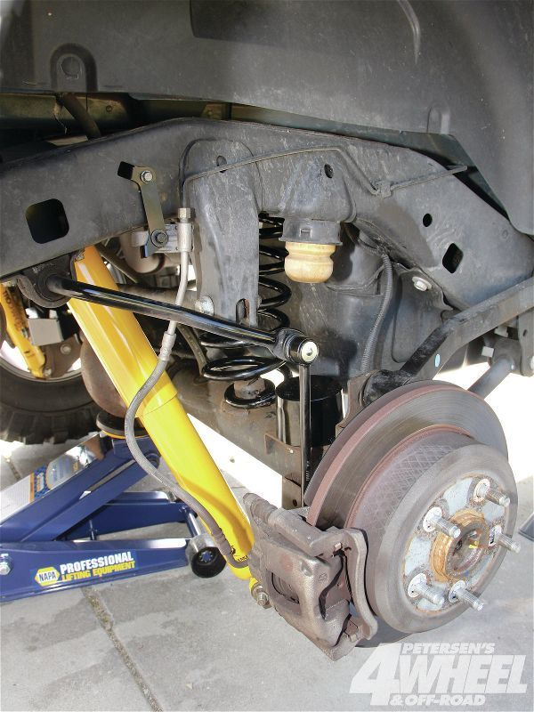 The front and rear suspensions also get longer sway-bar