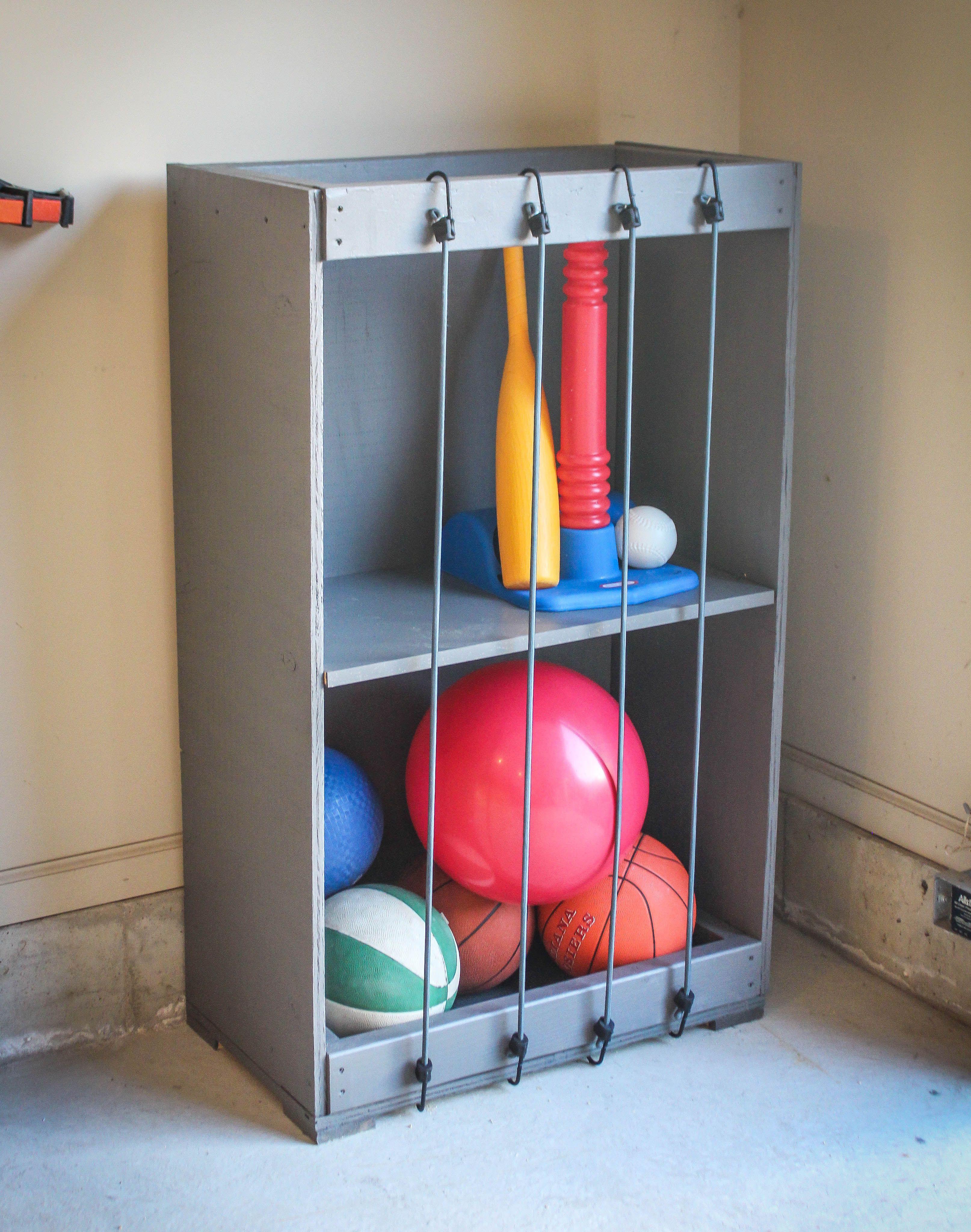 Bungee Ball Garage Storage Diy toy storage, Toy storage