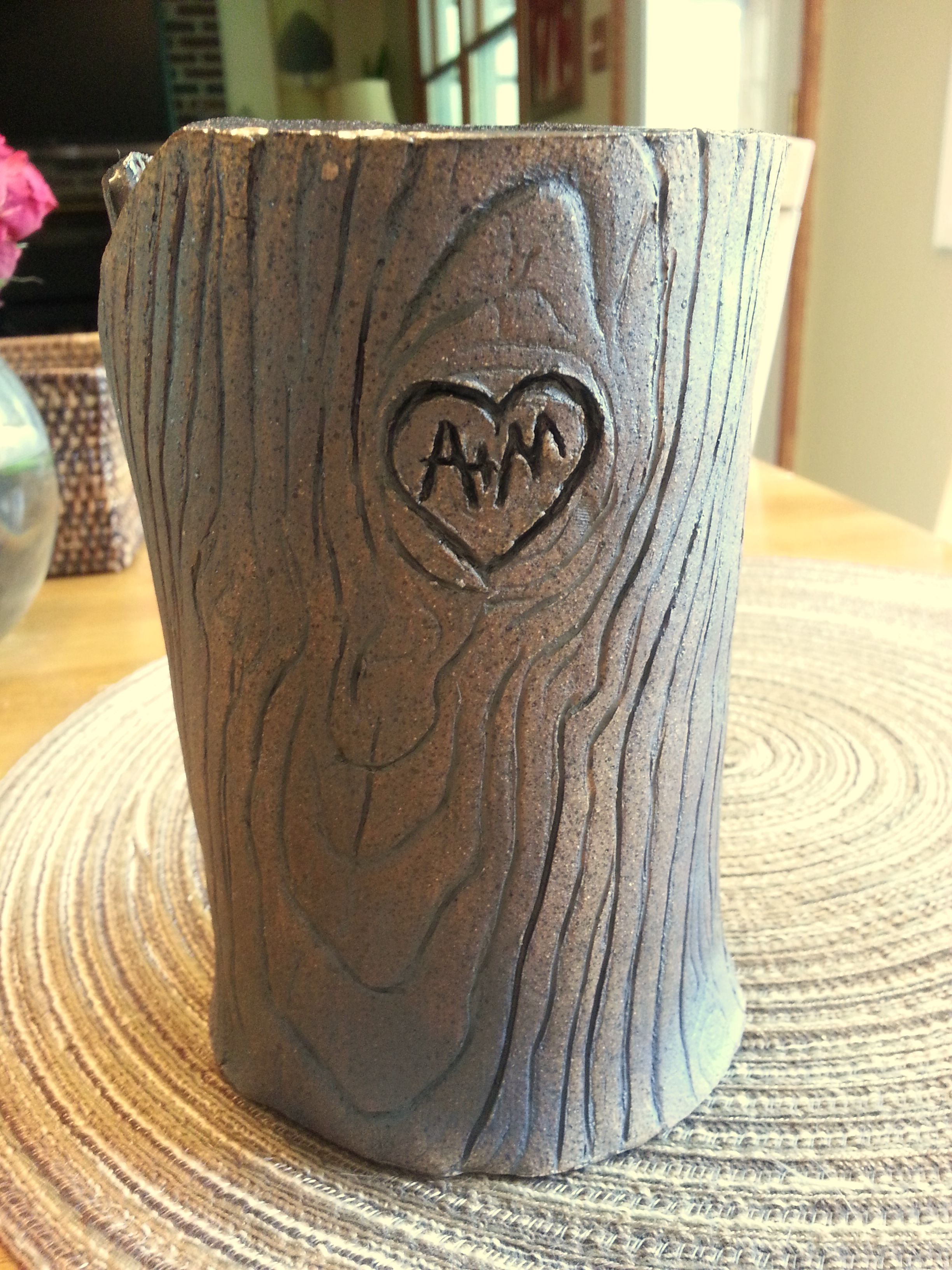 Handbuilt pottery..I made this for my clients' anniversary