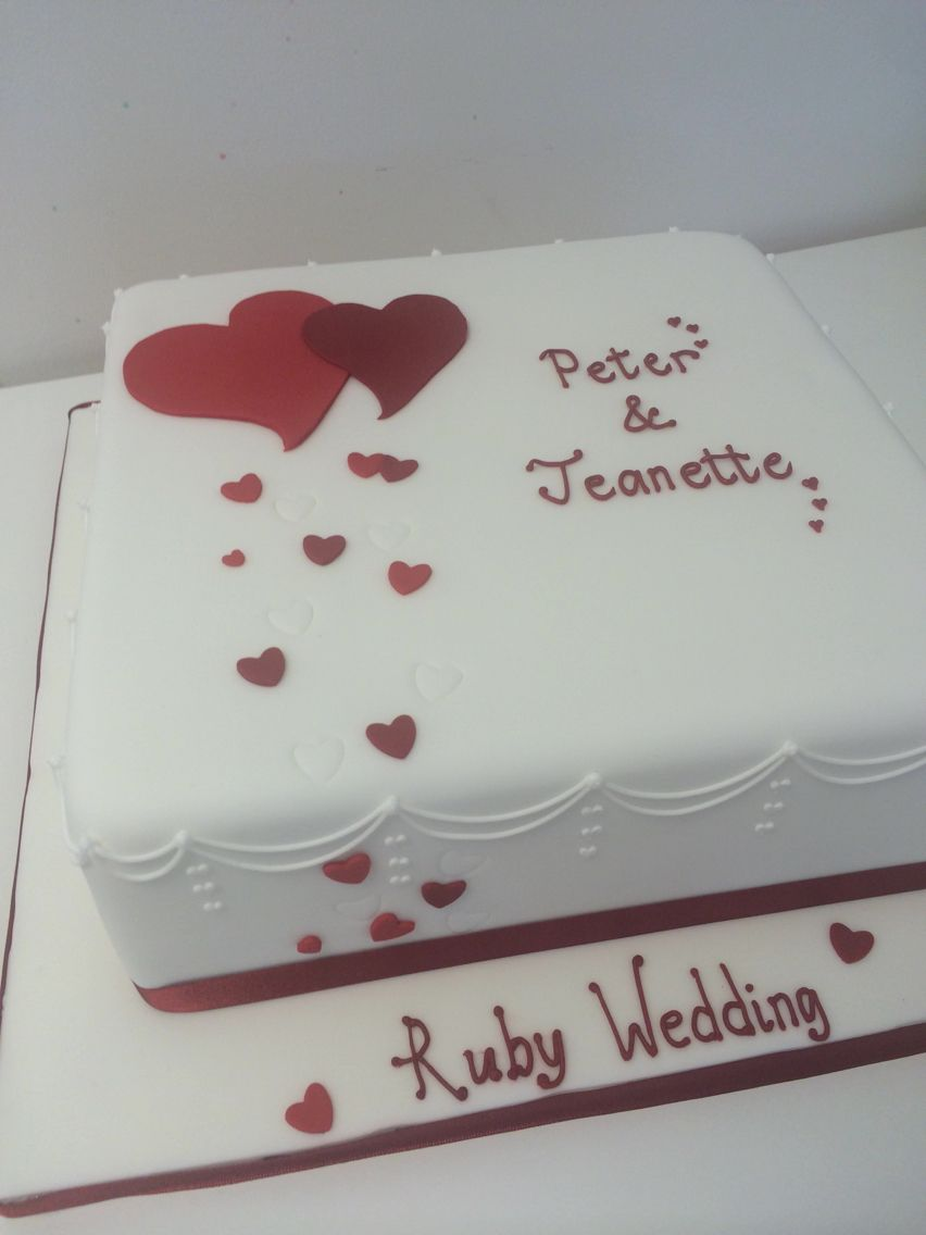 Ruby wedding anniversary cake | Anniversary | Pinterest | Ruby ...