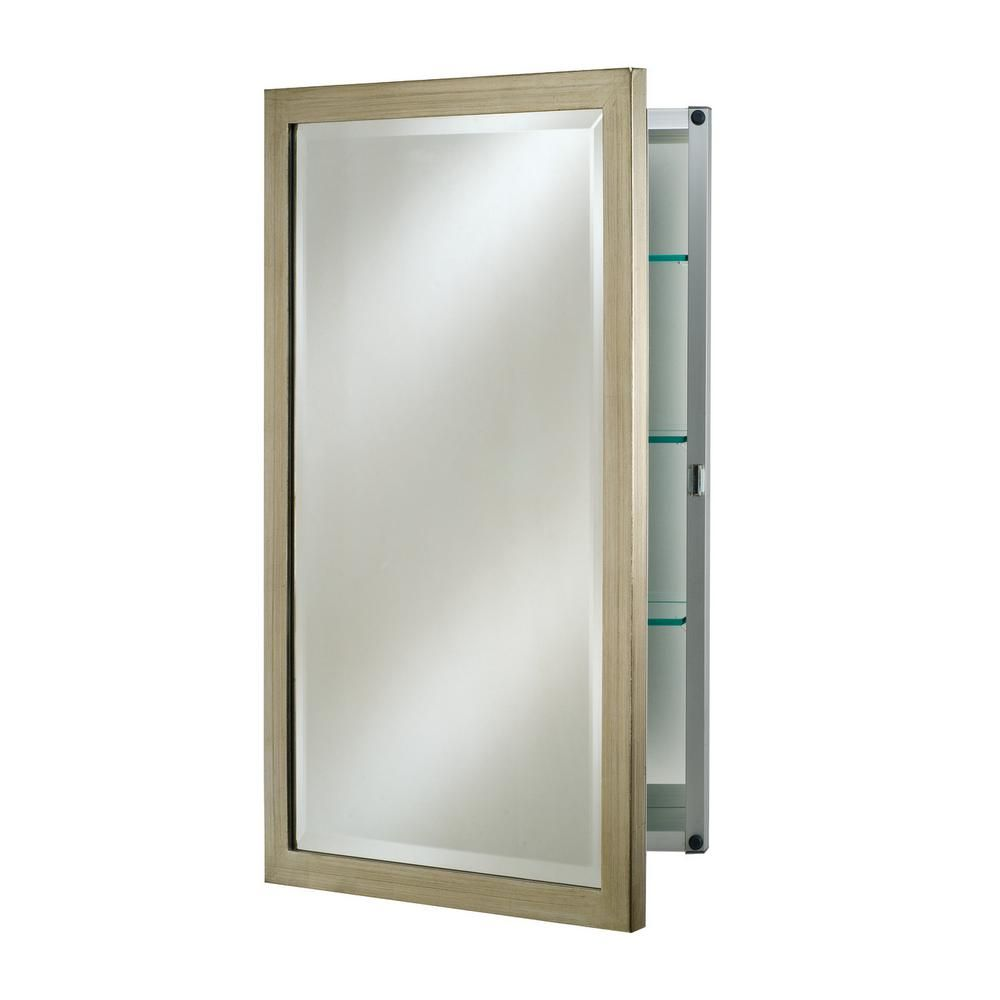 Afina Single Door 20 In X 26 In Recessed Medicine Cabinet Basix