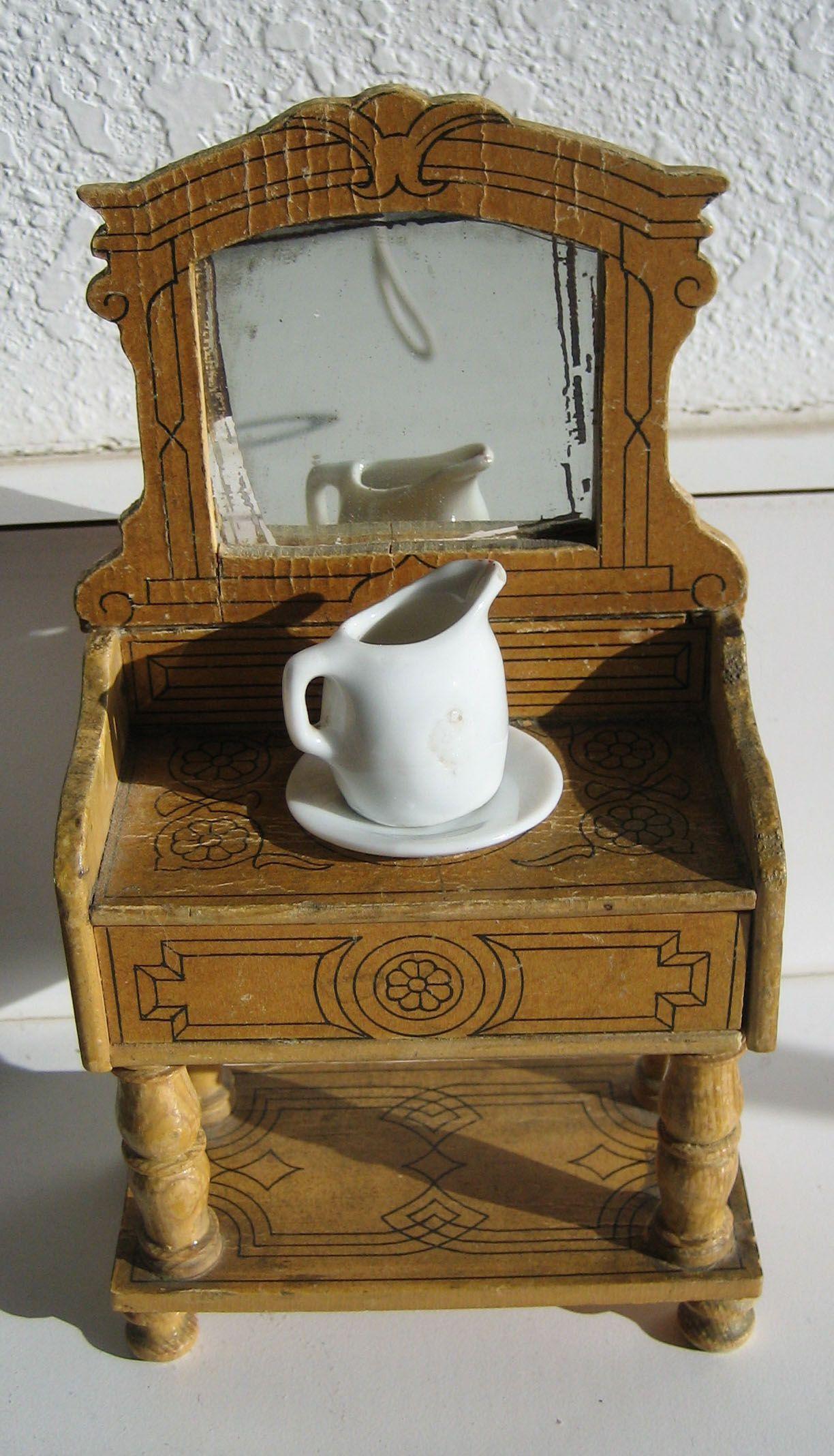 lithowash1jpg 12242136 Miniature FurnitureDoll House MiniaturesAntique