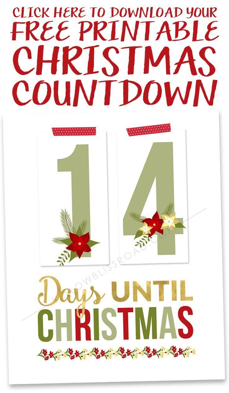 Fun Printable Christmas Countdown - Interior Design 3d •