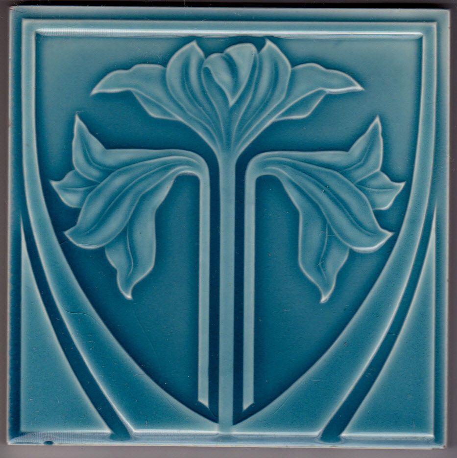 Jugendstil Fliese Kachel Art Nouveau Tile NSTG 1