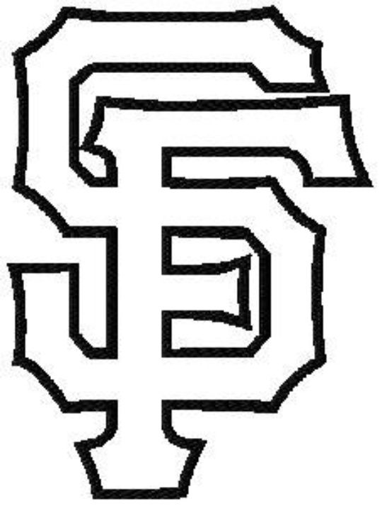 90f228c34 SF Giants Logo Coloring Page | Quilt patterns | Sf giants logo ...