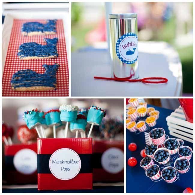 Wonderful Nautical Themed Birthday Party Supplies Part - 7: Nautical First Birthday Party For Boy