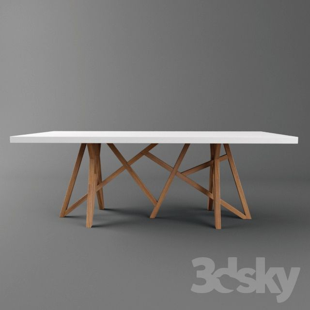 3d models: Table - Roche bobois Saga