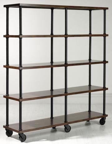 10 Metal Amp Wood Bookshelves For A Warm Industrial Look