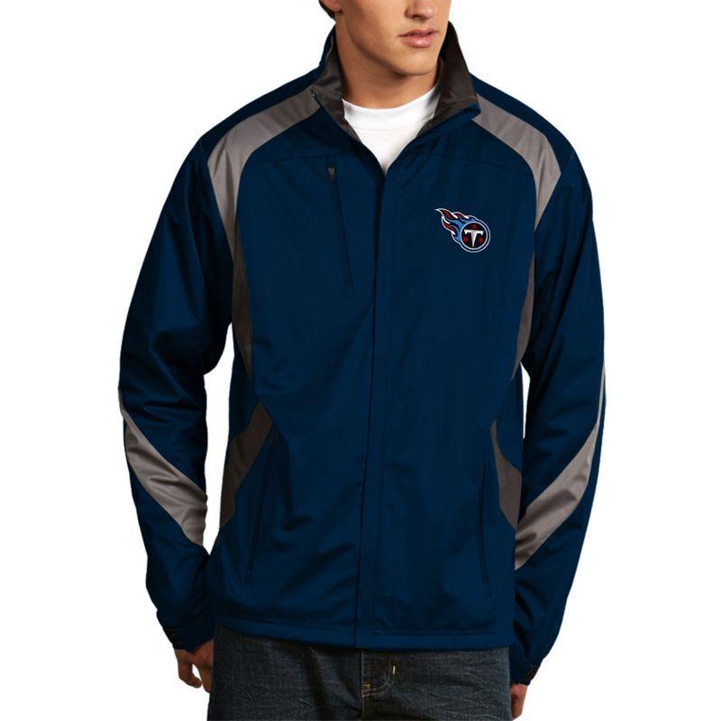 Antigua Men s Tennessee Titans Tempest Navy Full-Zip Jacket ... 1d7b39f3c