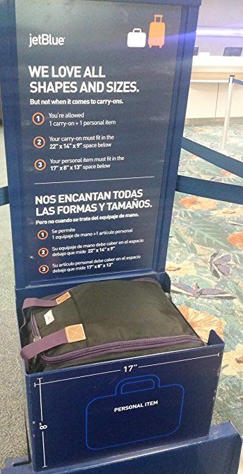 Boardingblue Jetblue Airlines Free Rolling Personal Item Under Seat Travel Duffels