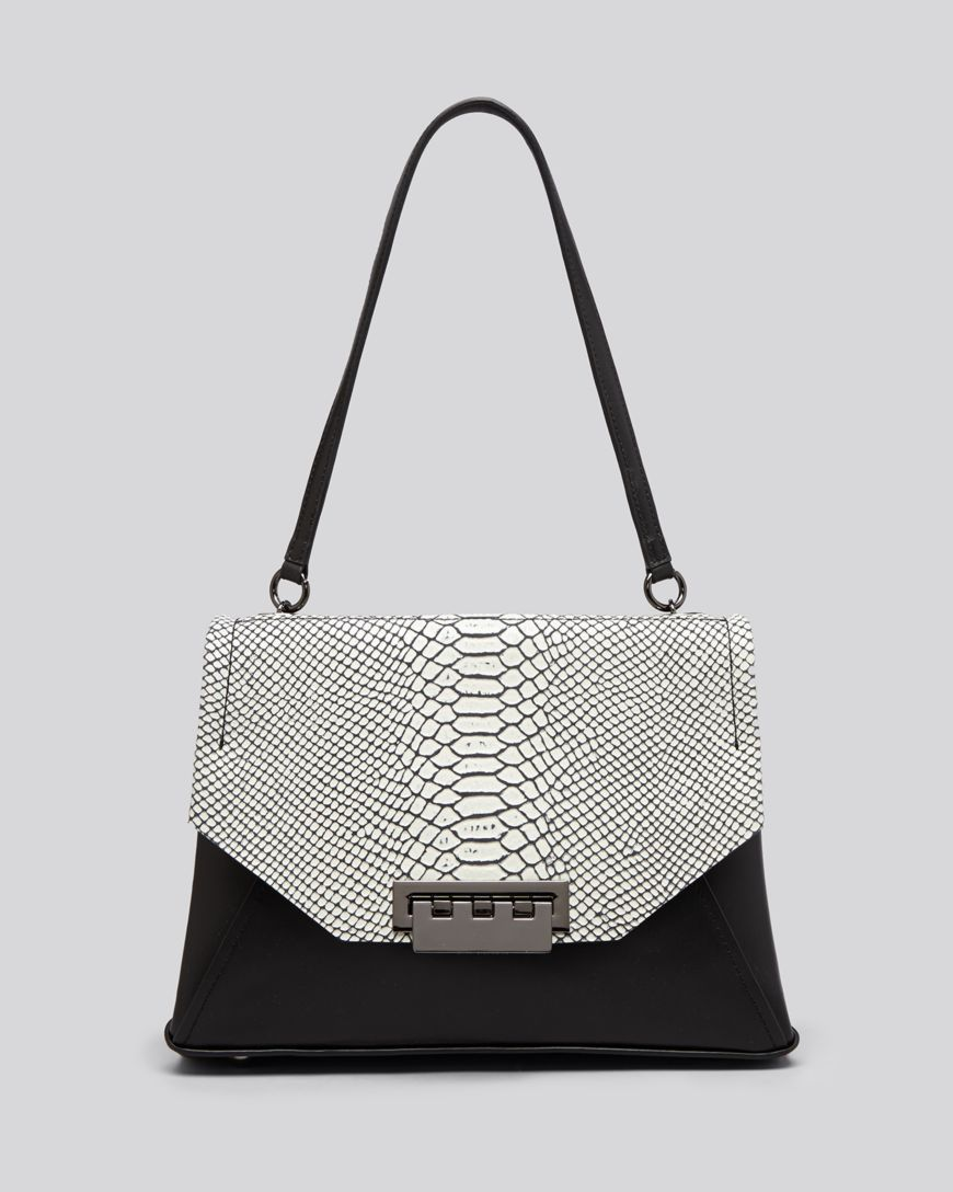 355840377540e ZAC Zac Posen Shoulder Bag - Eartha Envelope Snake-Embossed ...